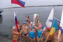 Финиш летнего заплыва моржей